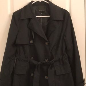 The Limited Jackets & Coats - Limited Black Trench Coat Rain Coat